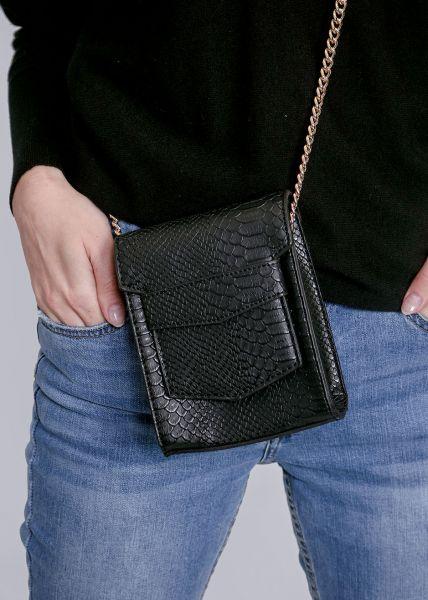 Mini-Snake-Bag, schwarz