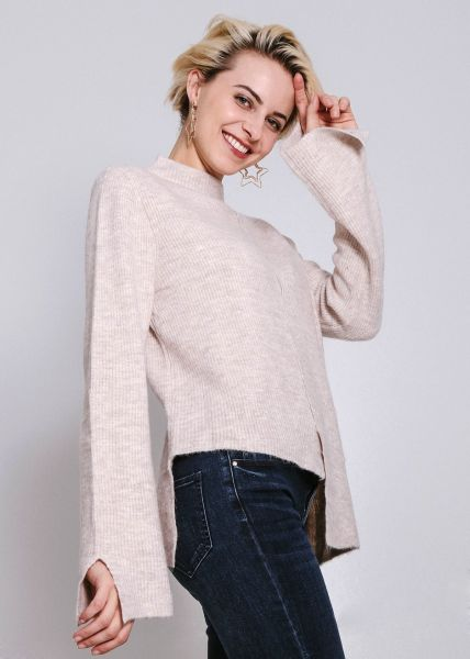 Asymmetrischer Pullover, beige