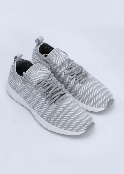 Sneaker mit Streifen, hellgrau