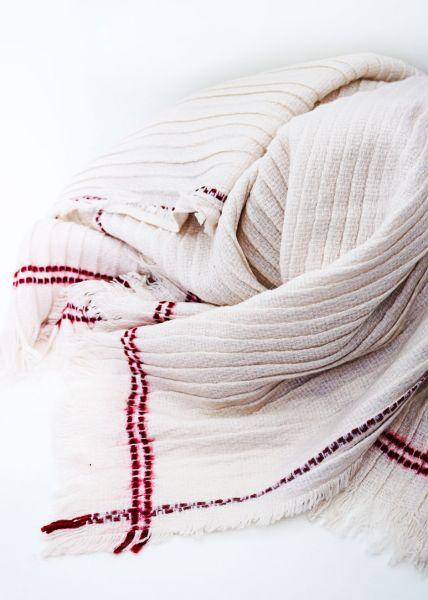 Plissée Schal, beige