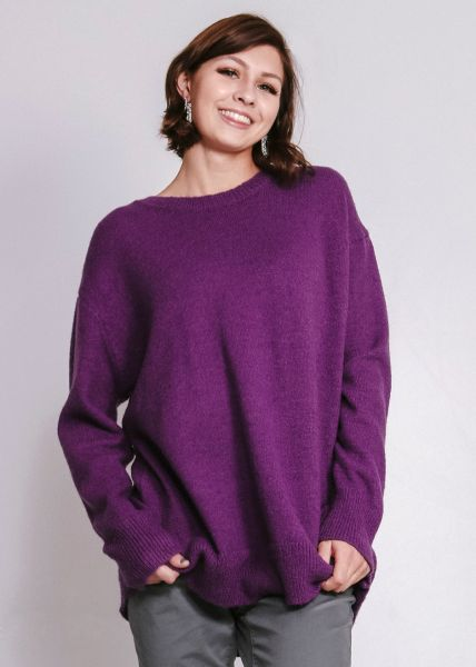Oversize Pullover, lila