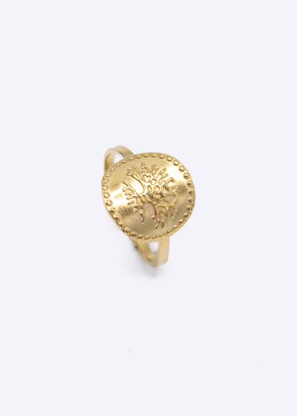Ring mit Ornament, gold