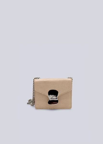 Mini-Bag in Snake-Optik, beige