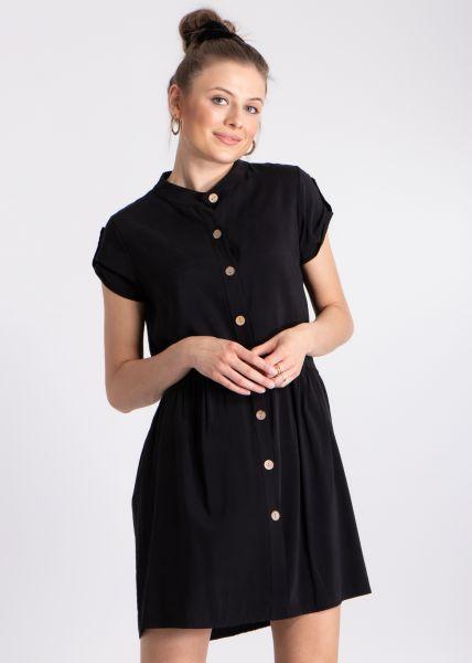 Kleid mit Seitentaschen, schwarz