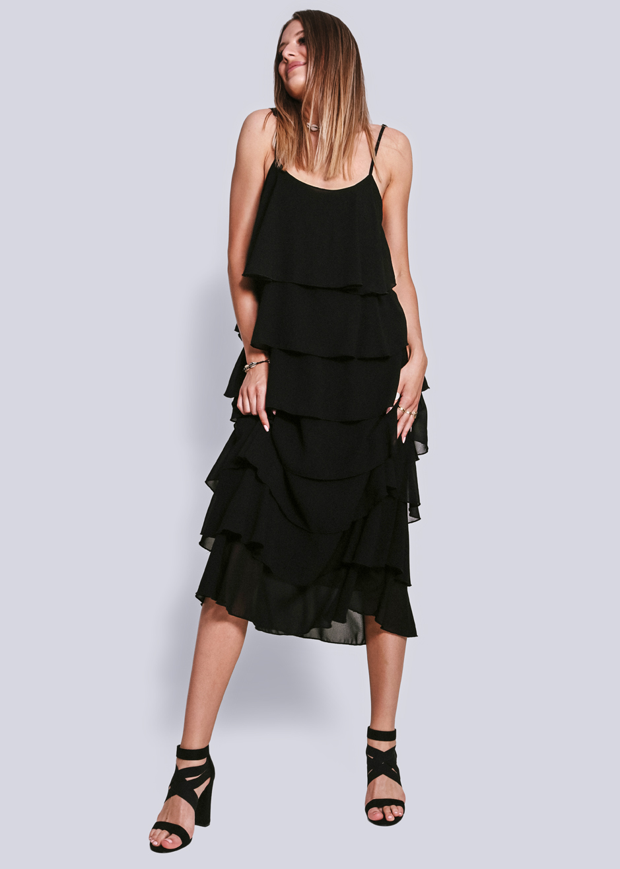 Sassyclassy KleidSchwarzKleider Sassyclassy Volants Bekleidung Volants Bekleidung Volants KleidSchwarzKleider reWBdoQCx