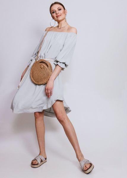Carmen-Kleid, hellgrau