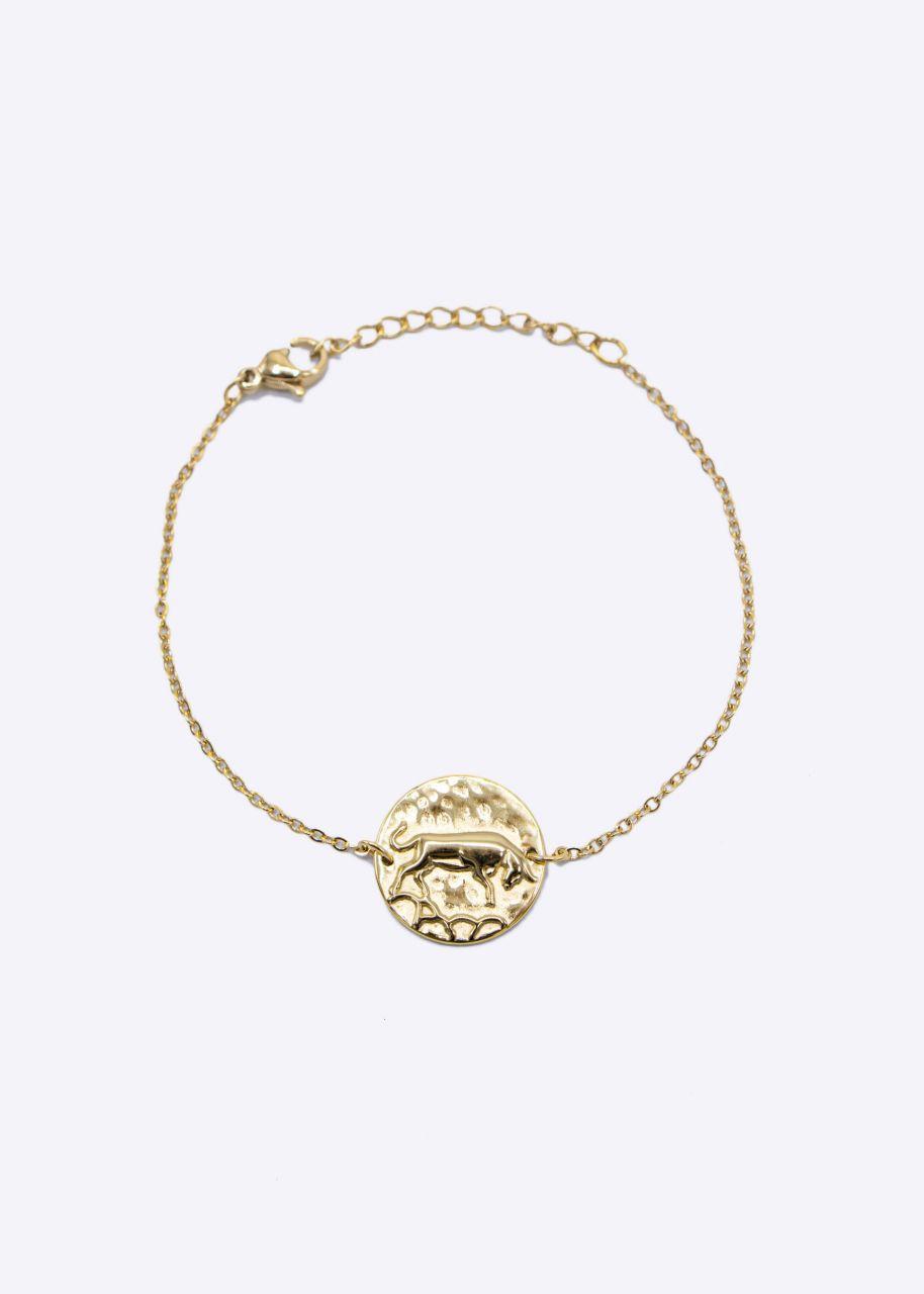 Armkette mit Sternzeichen Stier, gold