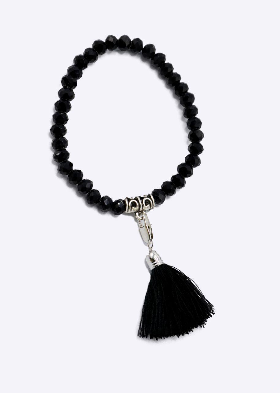 Perlenarmband, schwarz