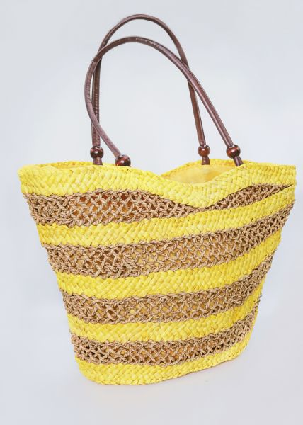 Gestreifter Strandkorb, gelb