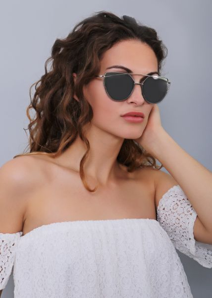 Must-Have Sonnenbrille, silber