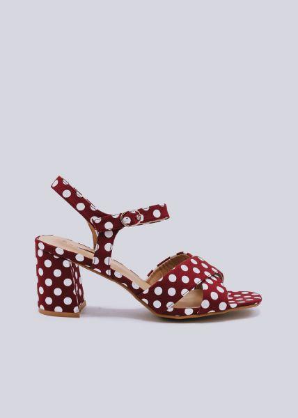 Sandaletten mit Punkten, rot