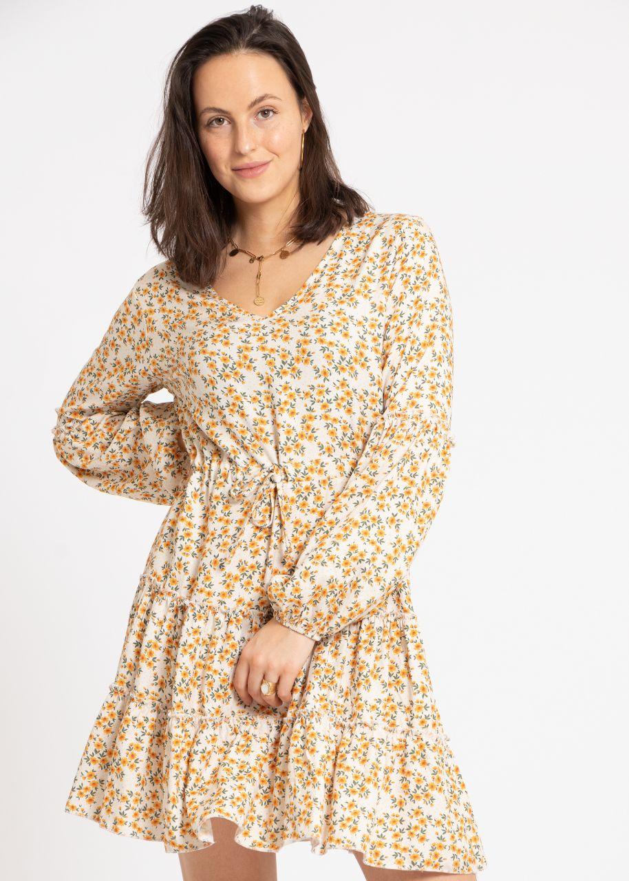 Hängerchenkleid mit Blümchen-Print, offwhite