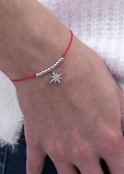 Armband mit glitzerndem Stern, rot