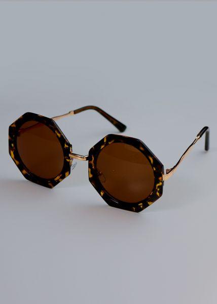 Eckig runde Sonnenbrille, Leo