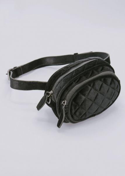 Gürteltasche / Tasche aus Samt, schwarz
