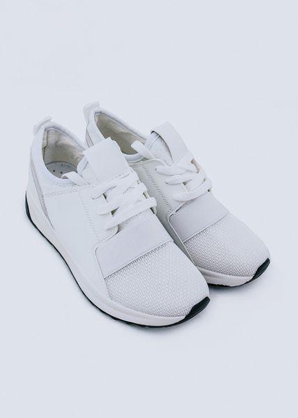 Sneaker mit Stretchband, weiß