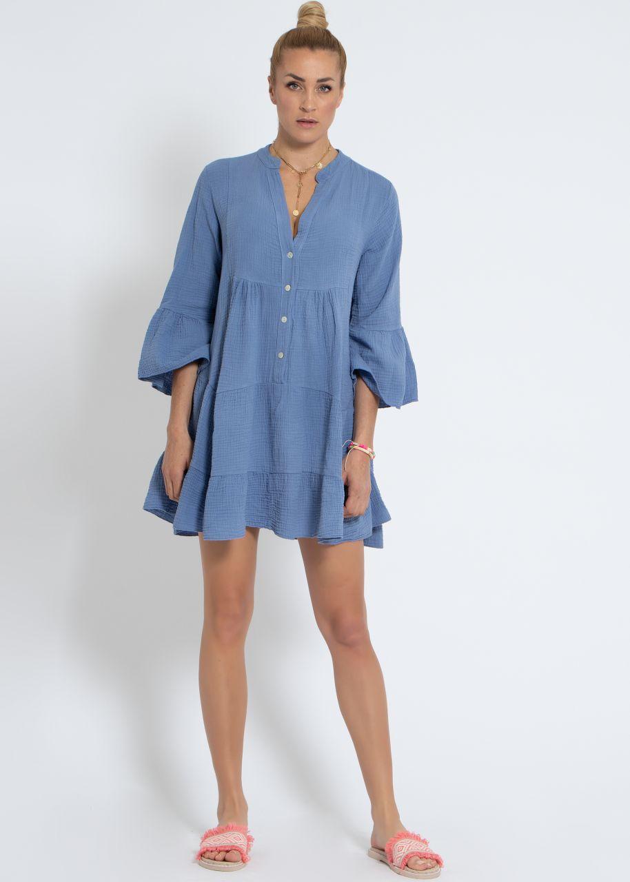 Musselin-Kleid, blau