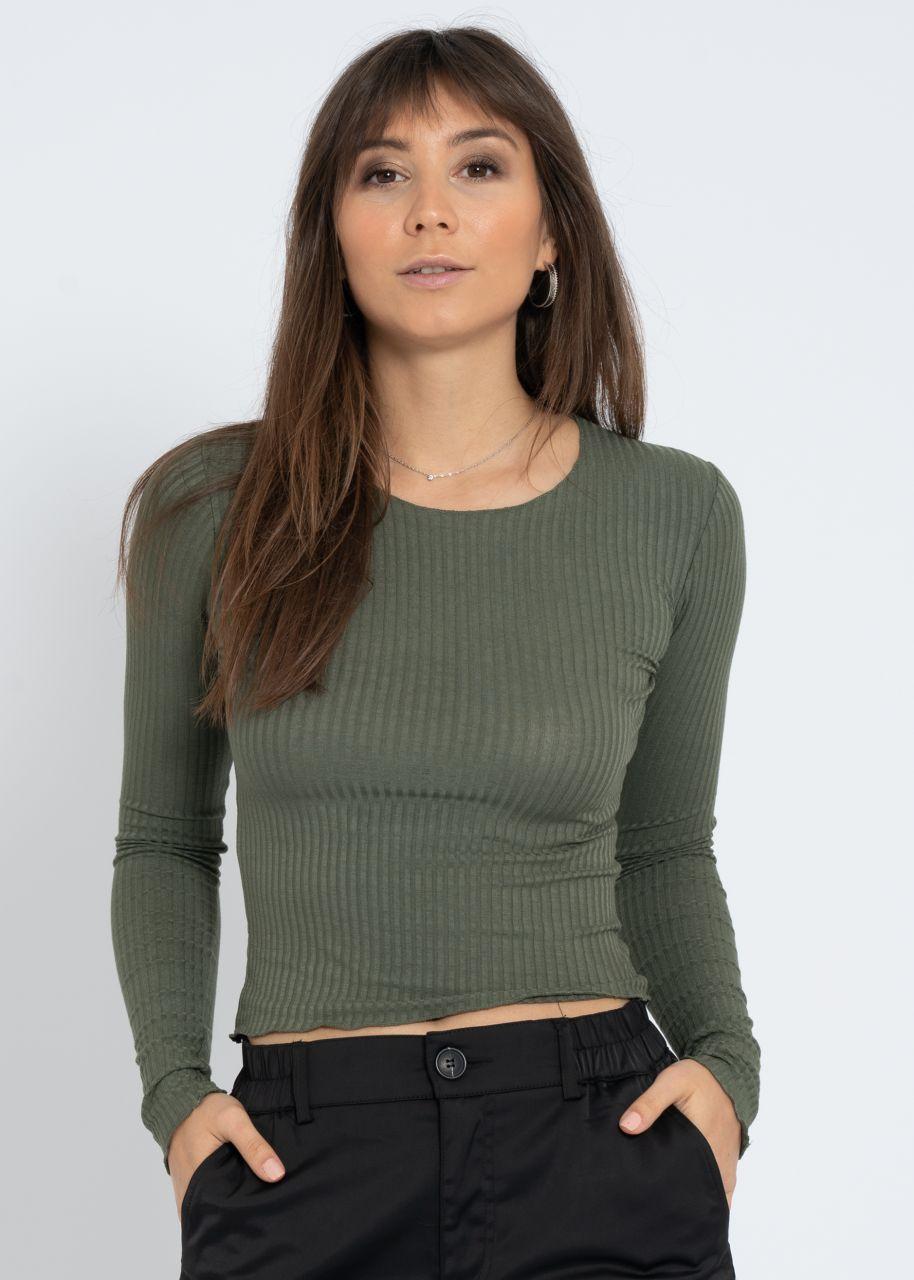 Rippen-Shirt, khaki