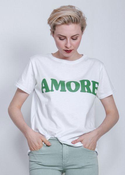 """Oversize Shirt """"AMORE"""", weiß"""