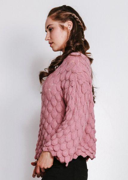 Pullover mit Struktur, rosa