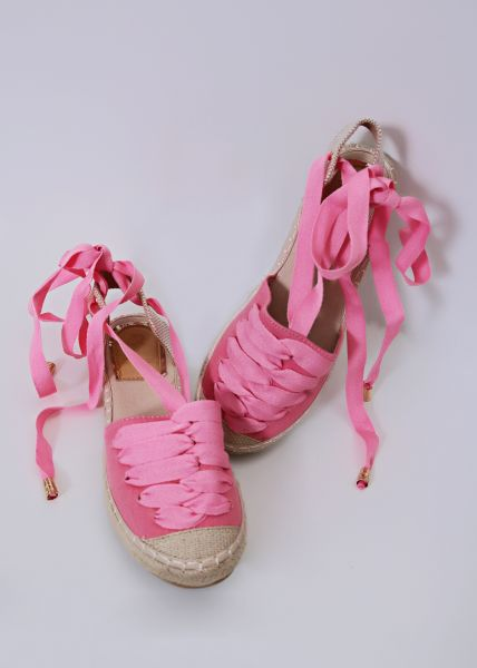 Espadrilles mit Schnürung, pink