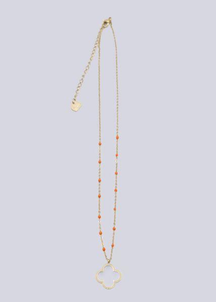Halskette mit Blume, gold