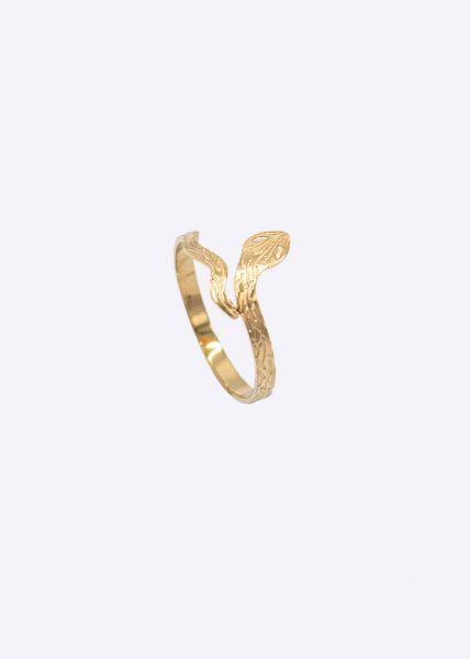 Schlangen-Ring, gold