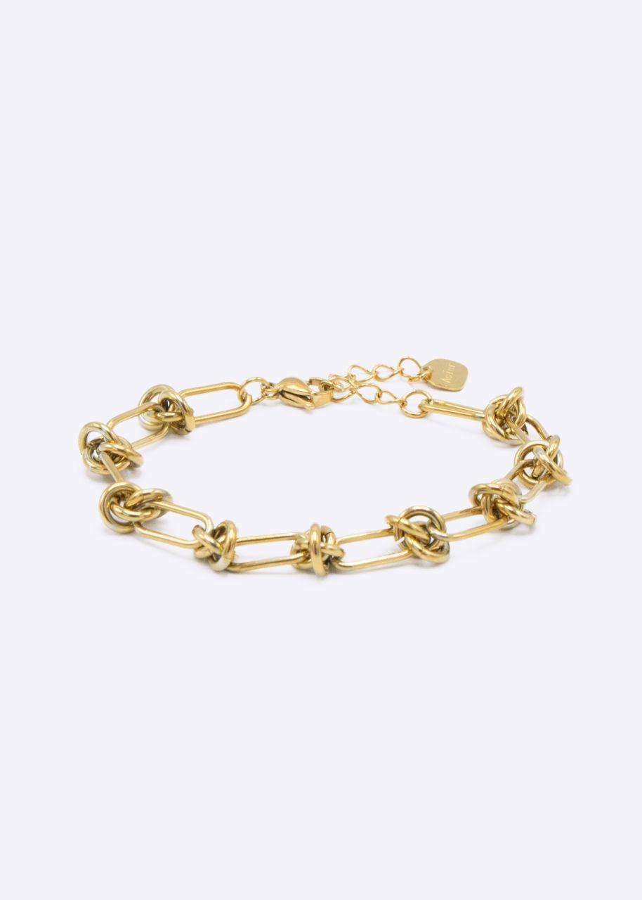 Armkette mit Knoten, gold