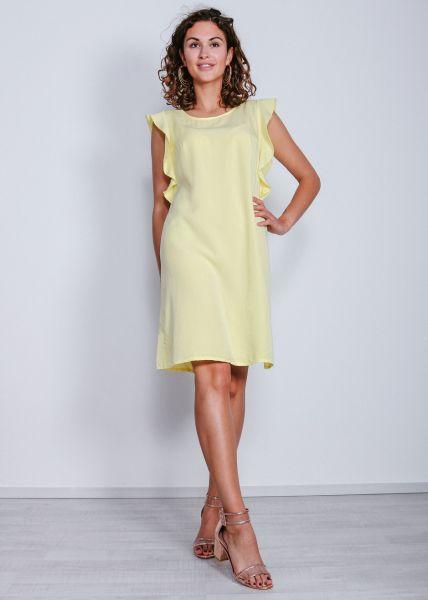 Shift-Kleid mit Volants, gelb