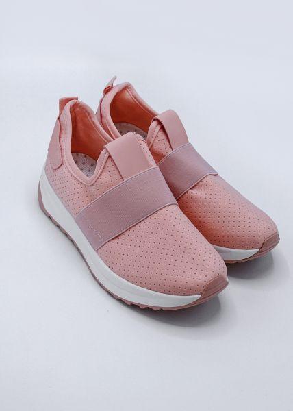 Sneaker mit Stretchband, rosa