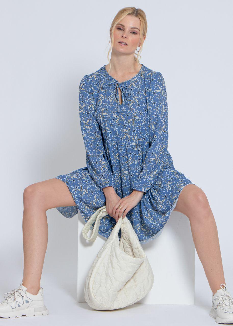 Hängerchenkleid mit Blumenprint, hellblau