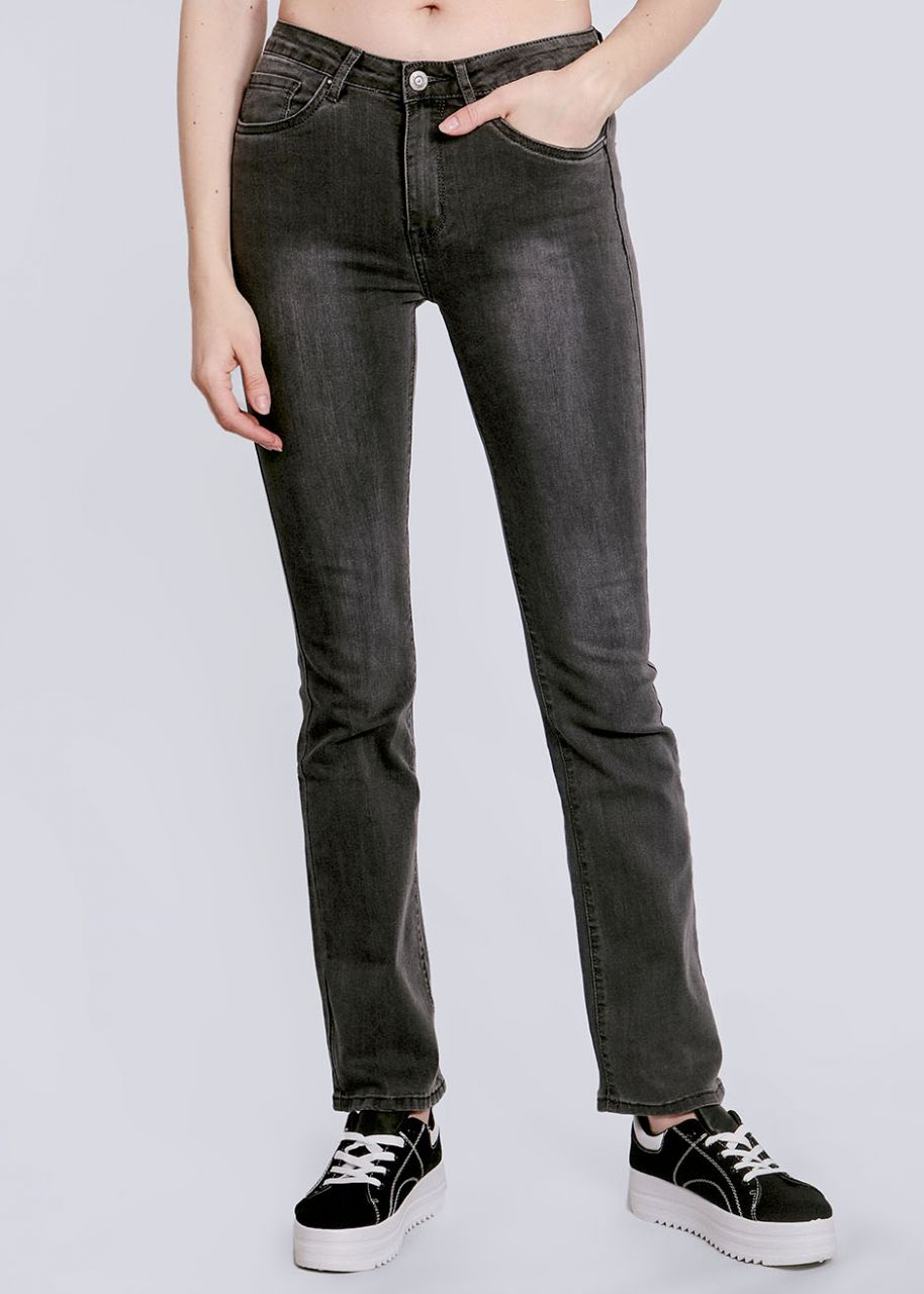 Straight-Fit Jeans, grau