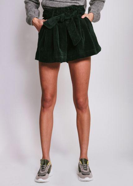 Kord-Shorts, grün