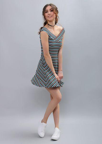 Streifen-Kleid