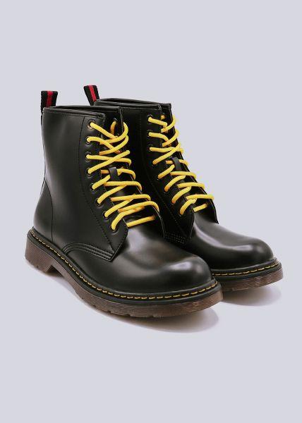 Schnür-Boots, schwarz