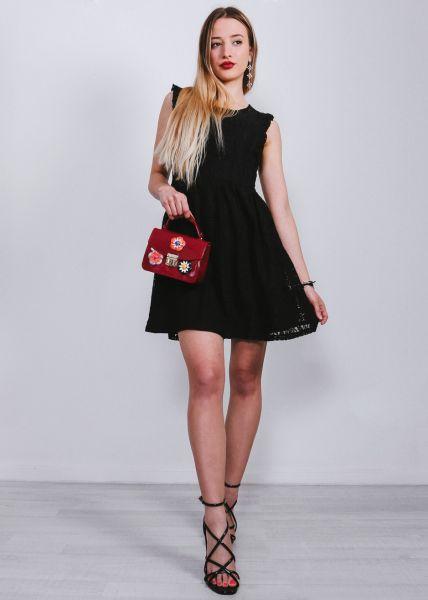 Kleid aus Spitze, schwarz