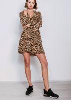 Jersey-Kleid in Leo-Print