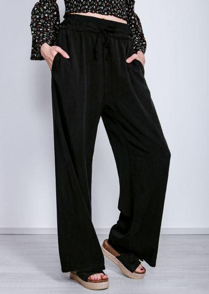 Extra lange Schlabberhose, schwarz
