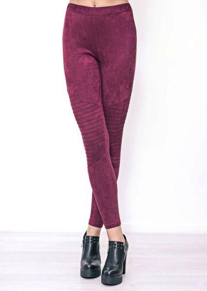 Velvet-Leggings, purple