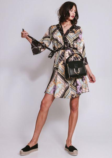 Kleid mit Ketten-Print, schwarz