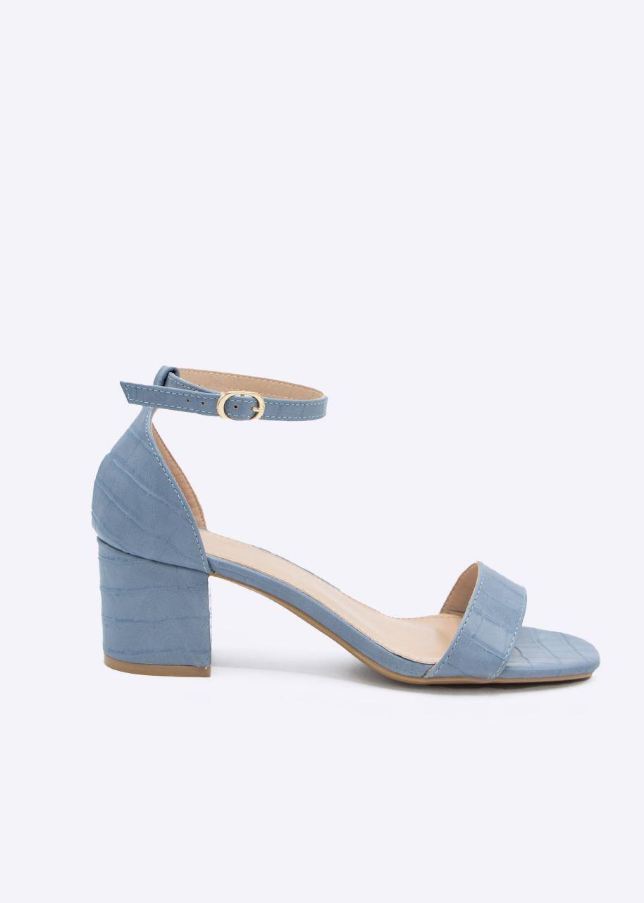 Sandaletten mit Absatz, blau