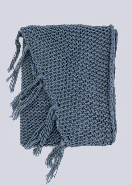 Poncho-Schal, blau