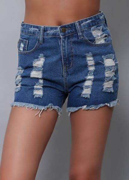 Highwaist destroyed Jeansshorts