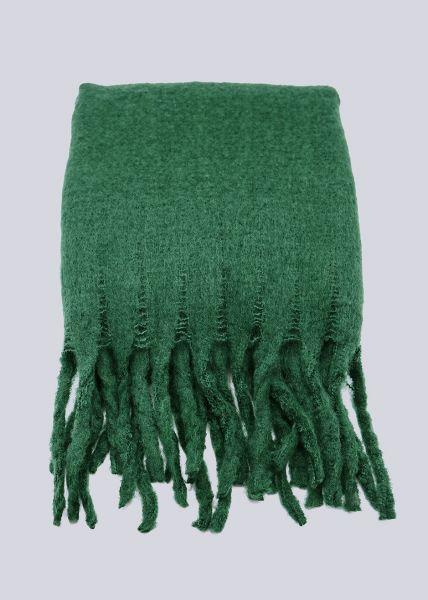 Schal mit langen Fransen, grün