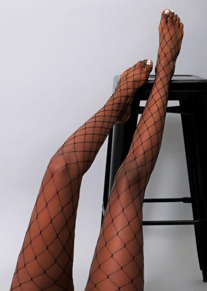 Netzstrumpfhose, grobmaschig, schwarz