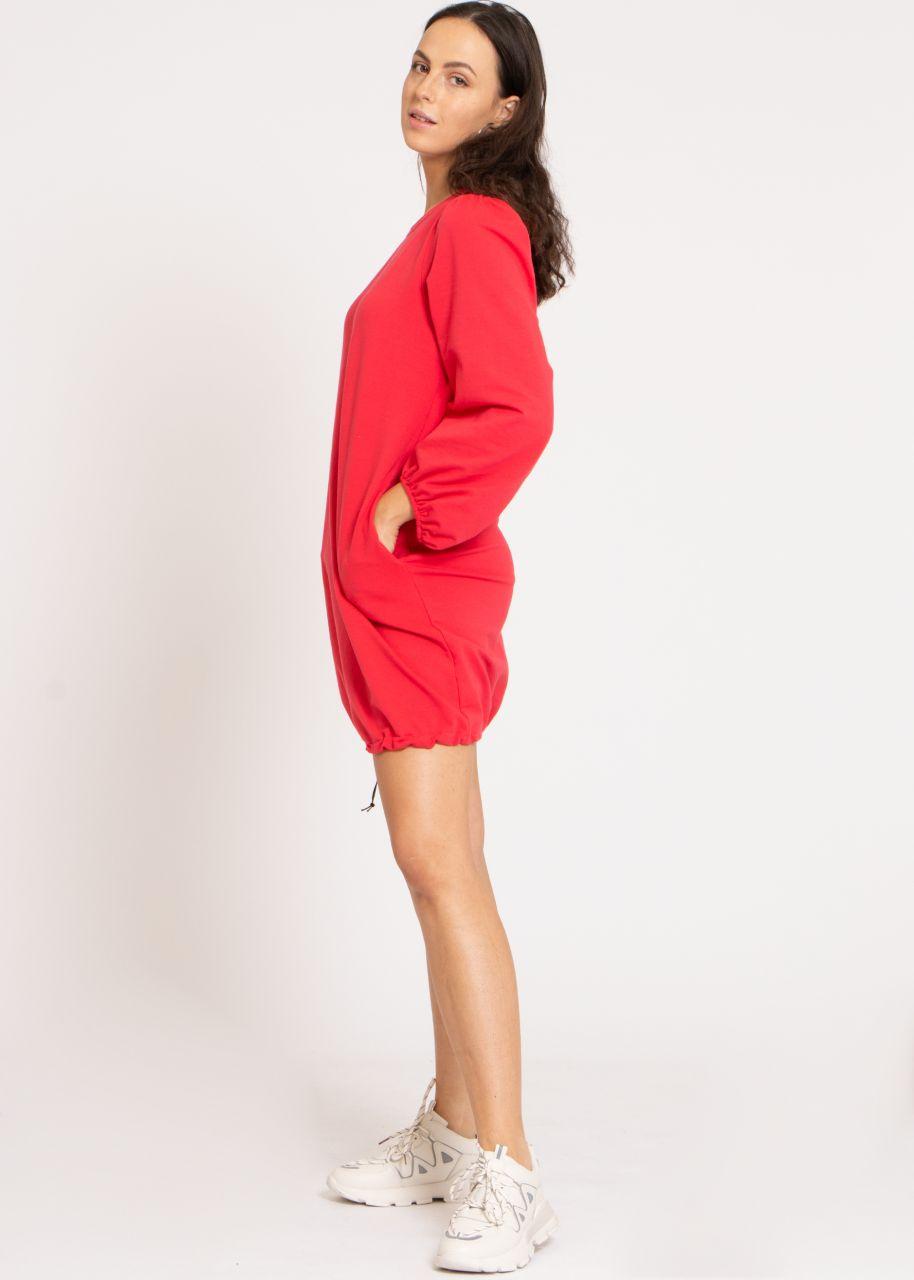 Lounge-Dress mit weiten Ärmeln, rot