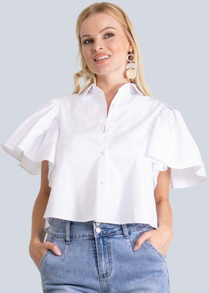 Bluse mit Rückenausschnitt, weiß
