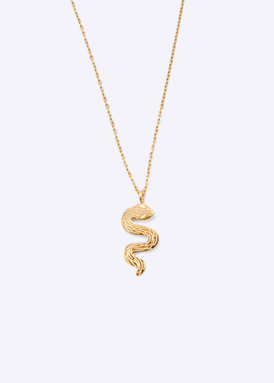 Halskette mit Schlange, gold