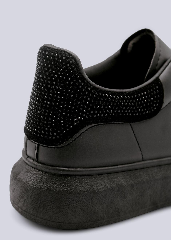 info for 421d3 fab75 Sneaker mit schwarzer Glitzer-Ferse, schwarz