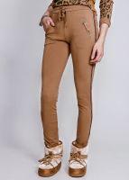 Loungepants mit silbernen Streifen, braun